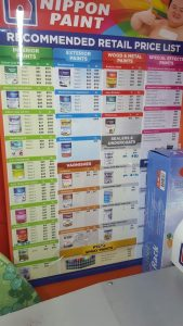 This is the full comprehensive transparent price list for all Nippon Paint